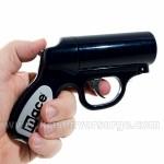 Mace Pfefferpistole mit einer Reichweite von über 6 Meter.