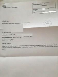 Zertifikat Restschuldbefreiung