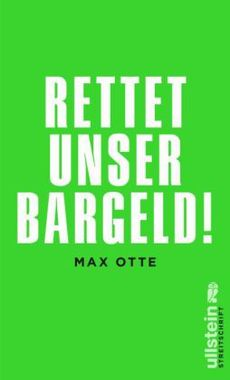 Cover Rettet unser Bargeld Max Otte